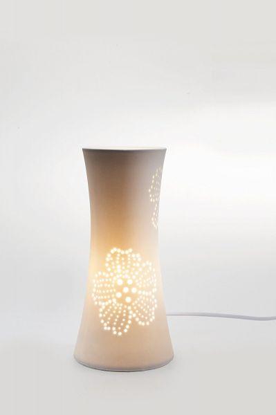 Ballau.eu - Margarita Dekorative Tischlampe mit Blumenmotiv 50043
